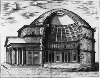 A&A | Elevations (drawings), engraving, section, Pantheon