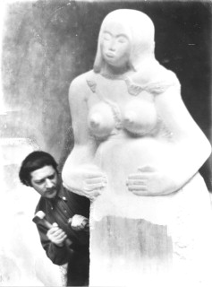Jacob Epstein - hard at it