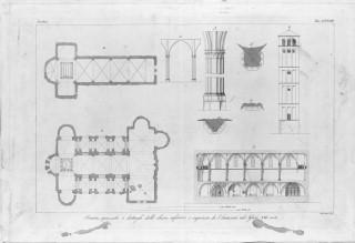 a a plans drawings section church of san francesco