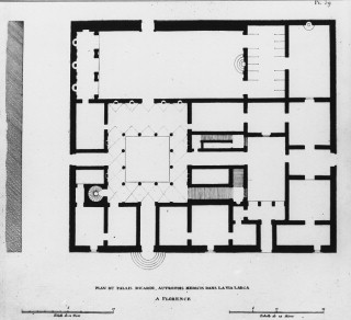 A a plans drawings palazzo medici ricardi for Palazzo floor plan