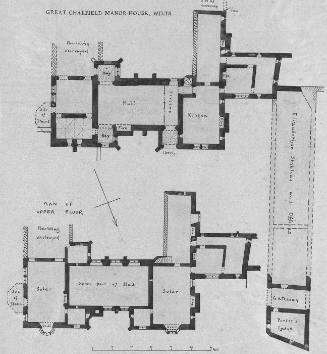 A A Plans Drawings Great Chalfield Manor