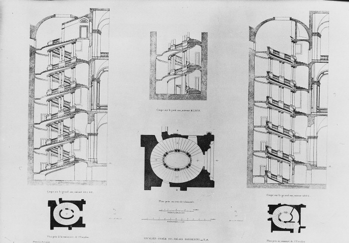 A Amp A Plans Drawings Spiral Stair Palazzo Barberini