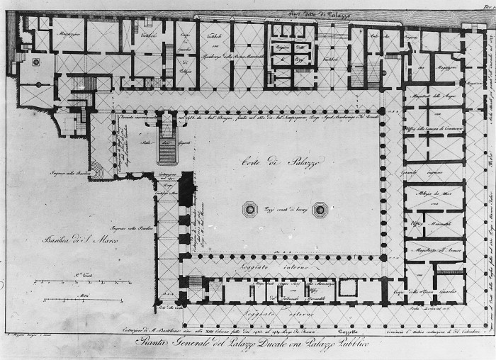 A a plans drawings palazzo ducale for Palazzo floor plan