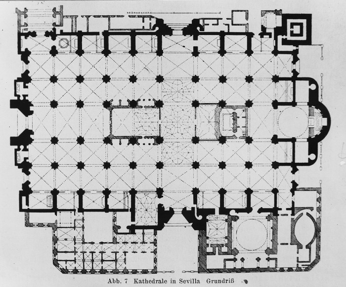 Plans Drawings Seville Cathedral Santa Maria